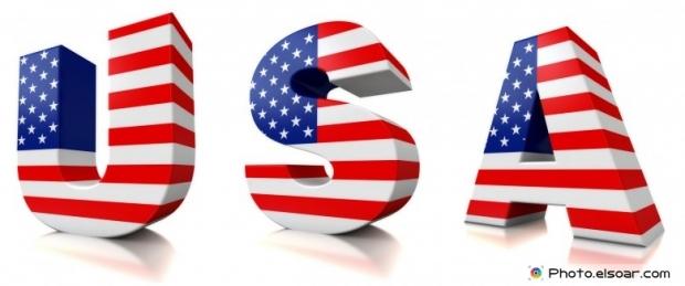 Amazing USA 3D Font Flag