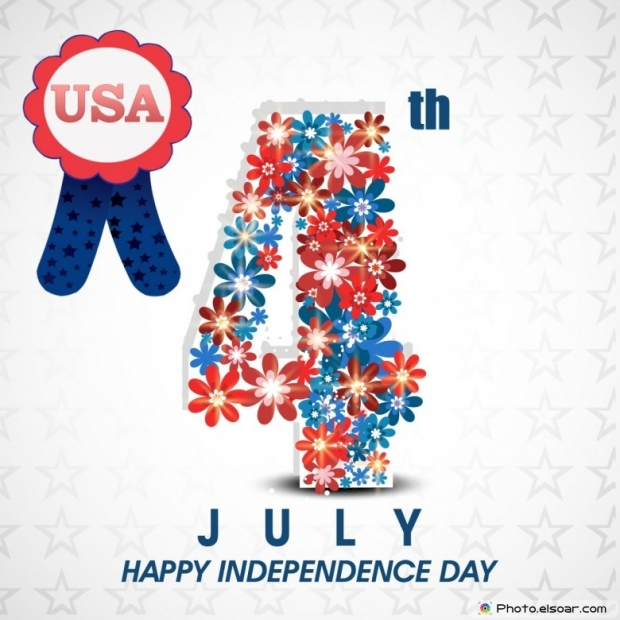 USA 4th July Happy Independence Day ClipArt