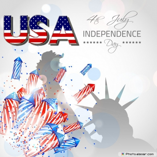 USA 4th July Independence Day Design
