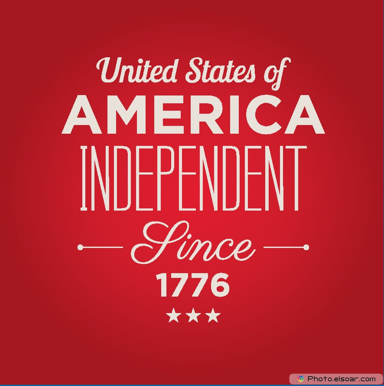 USA Independence Day Since 1776 Free Card