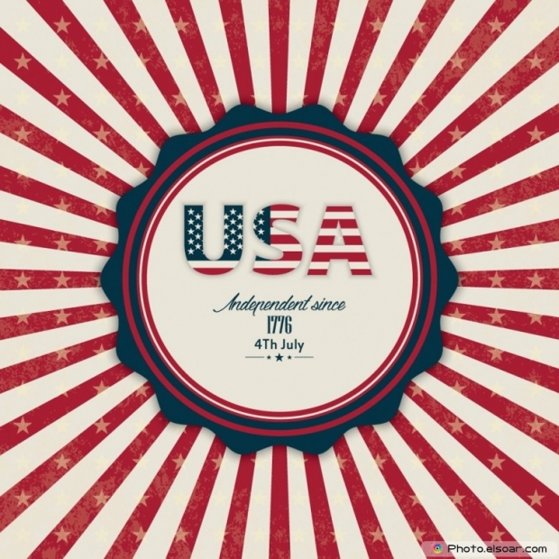 USA Independent Since 1776 4th July Card