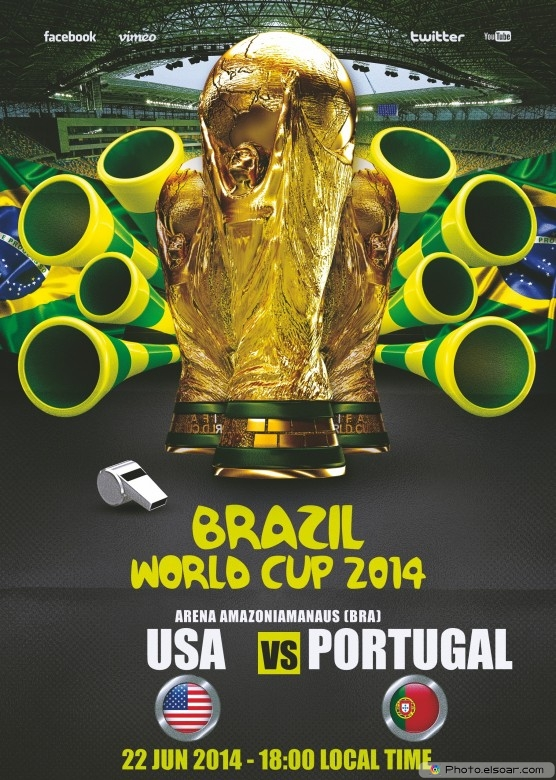USA vs Portugal - World Cup 2014 - 22 Jun 2014 - 18:00 Local time - Group G - Arena Amazonia - Manaus