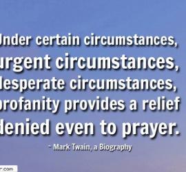 Under certain circumstances