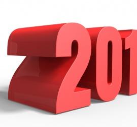 Unique New Year 2016 3D Image 100 DPI