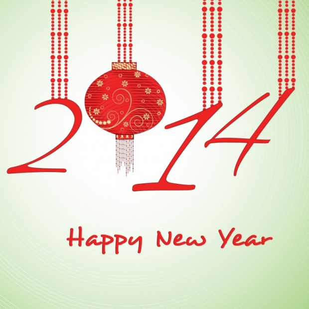 Upscale Design Happy New Year 2014 Image 1