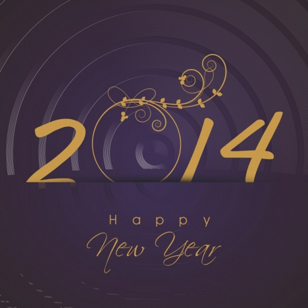 Upscale Design Happy New Year 2014 Image 3