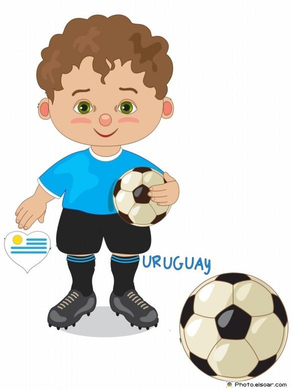 Uruguay National Jersey, Cartoon Soccer Player