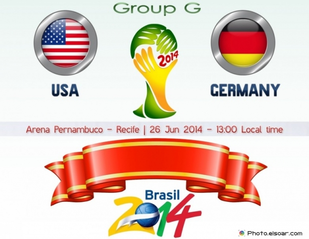 Usa Vs Germany - World Cup 2014 - 26 Jun 2014 - 13:00 Local time - GROUP G - Arena Pernambuco - Recife