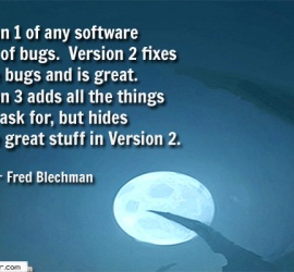 Version 1 of any software is full of bugs