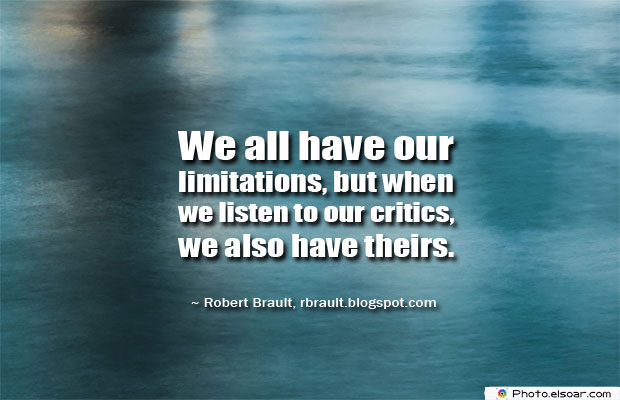 We all have our limitations