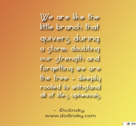 We are like the little branch
