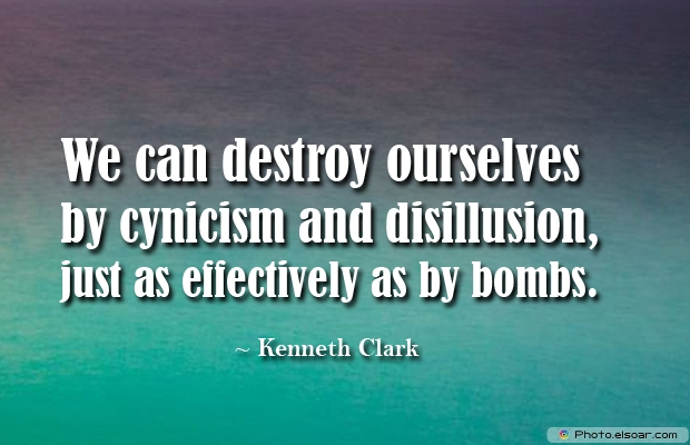 We can destroy ourselves