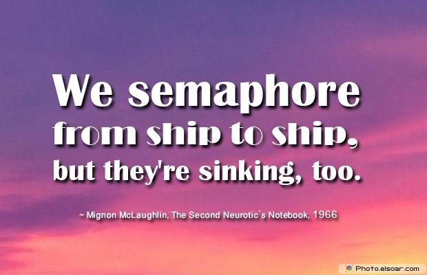 We semaphore from