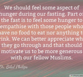 We should feel some aspect of hunger