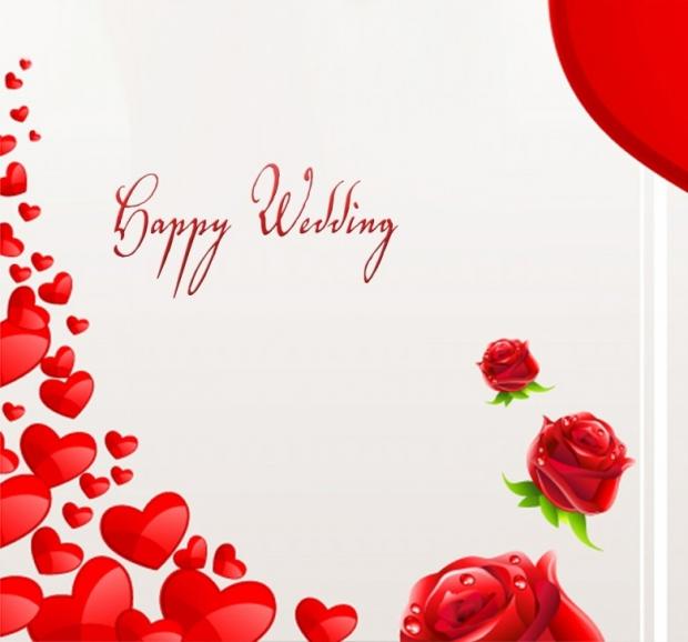 Wedding Congratulations Cards Happy Wedding Elsoar