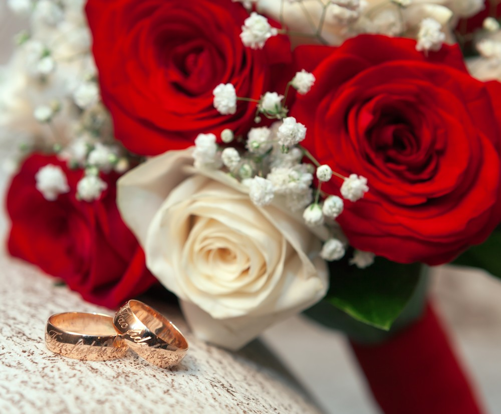 Wedding Flowers and Wedding Rings Images Elsoar