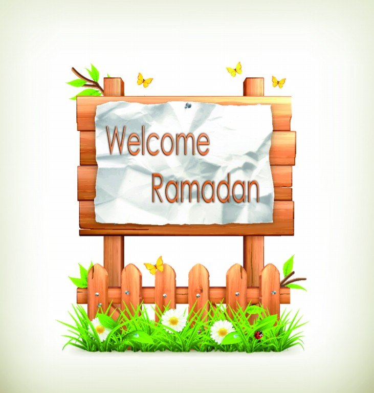 Welcome Ramadan on Wooden billboards 4