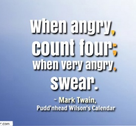 When angry, count four