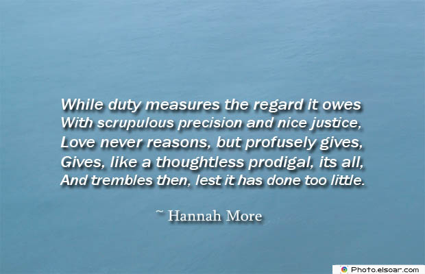 While duty measures the regard it owes