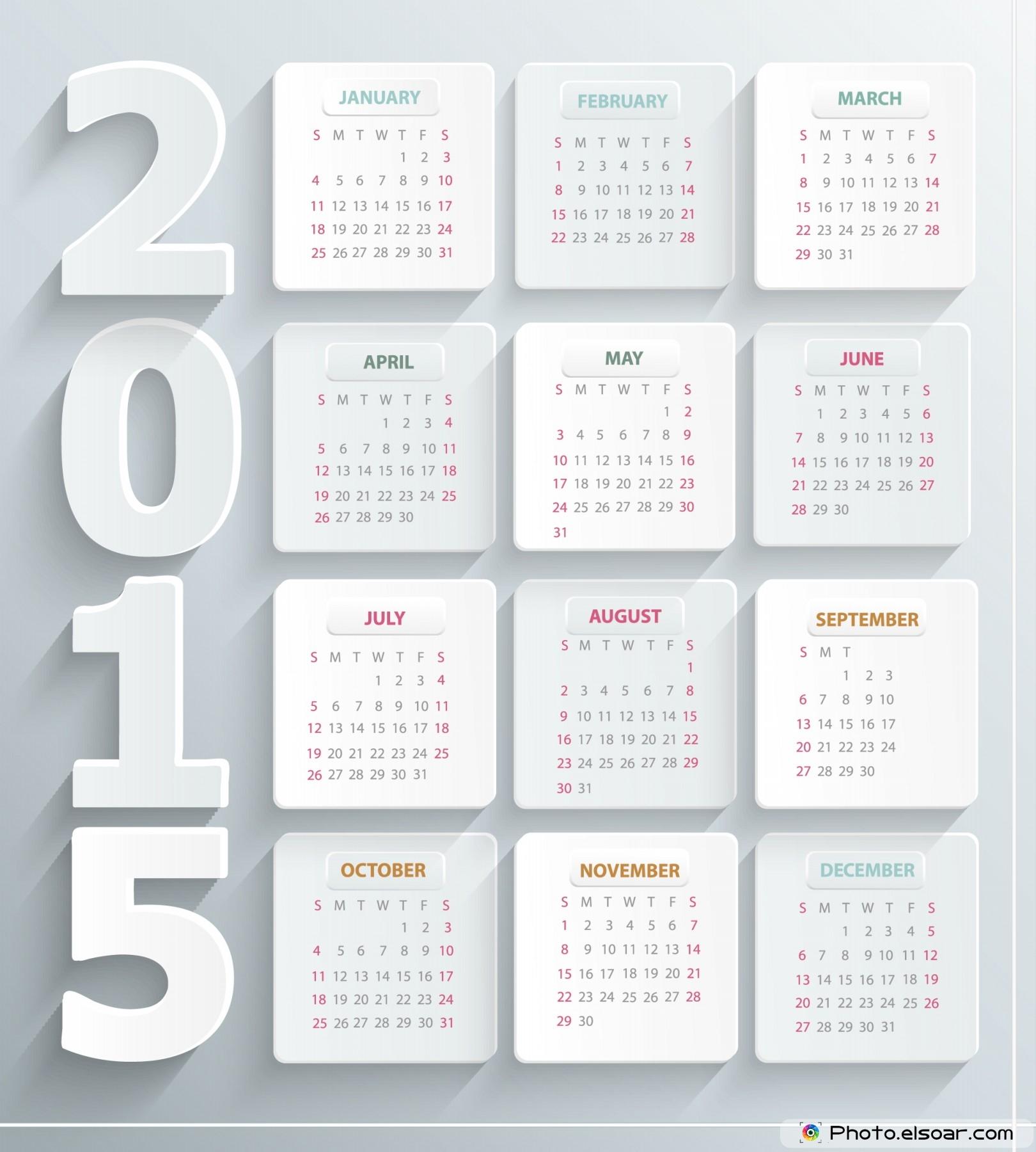 すべての講義 カレンダ 2015 : Design 2015 Calendar
