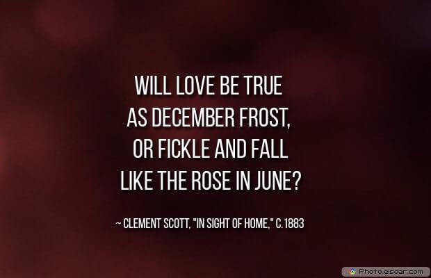Will love be true as December