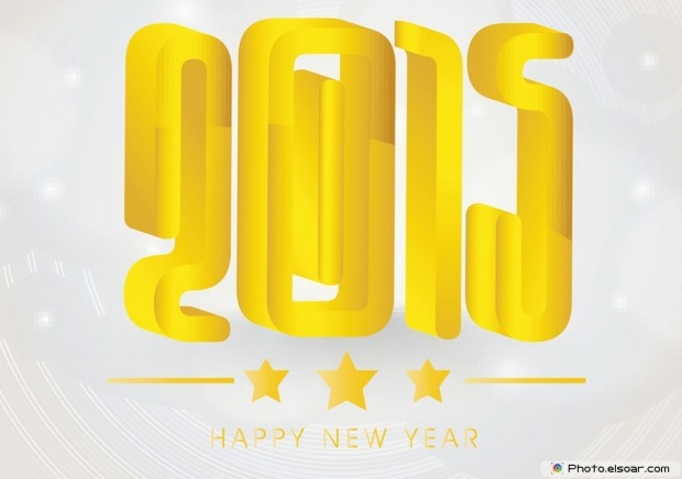 Wish You A Happy New Year 2015 - Golden Card