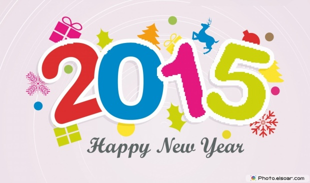 Wish You Happy New Year 2015 - Many Elements