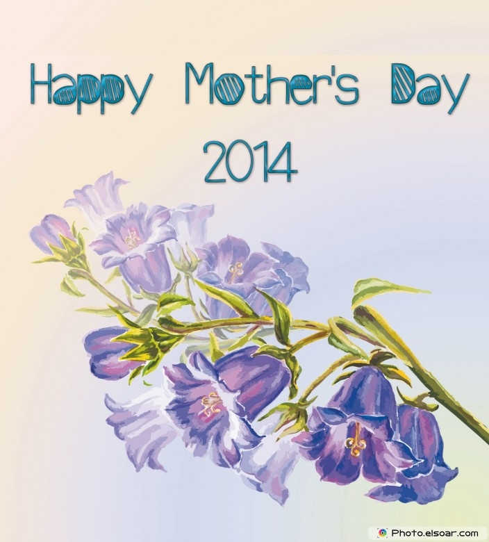 With Tree branch 2014 Mothers day flowers card