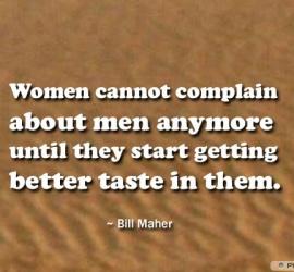 Women cannot complain