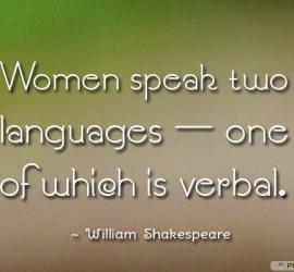 Women speak two languages