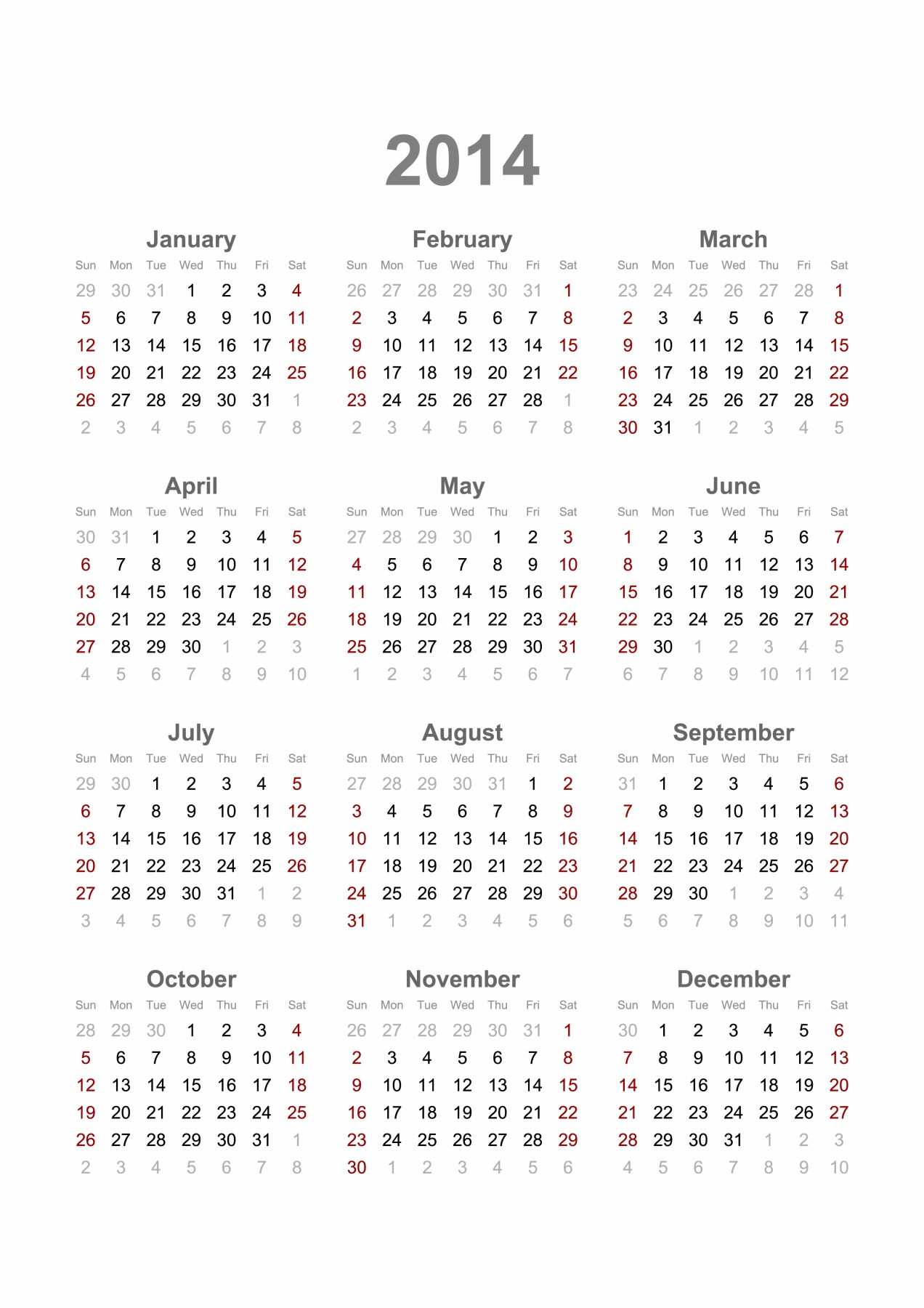... 2014 calendar printable 2014 calendar ready to printable new year 2014