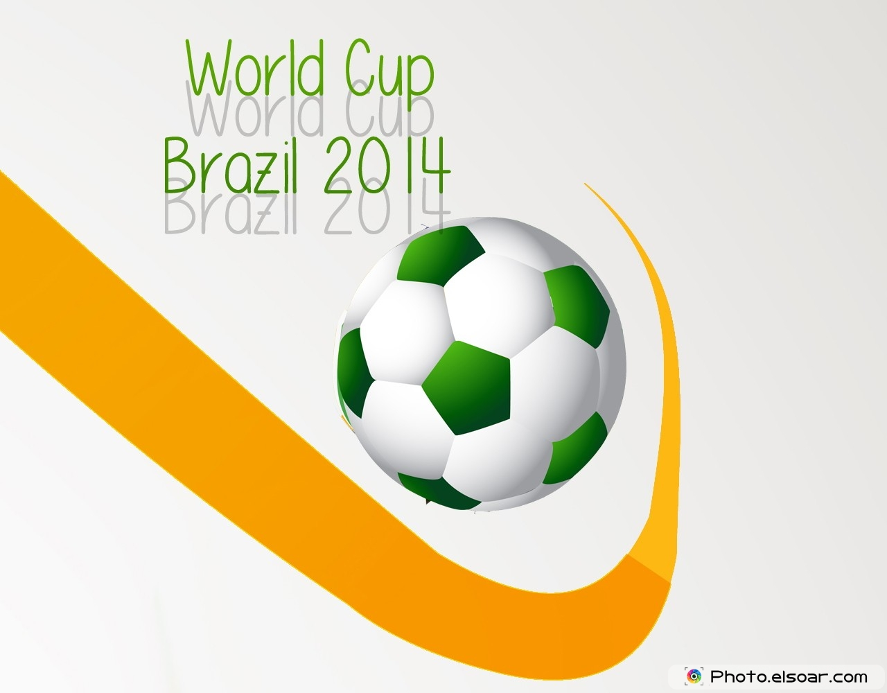 World Cup Brazil 2014 with Ball