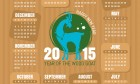 Year Of The Goat Calendar 2015