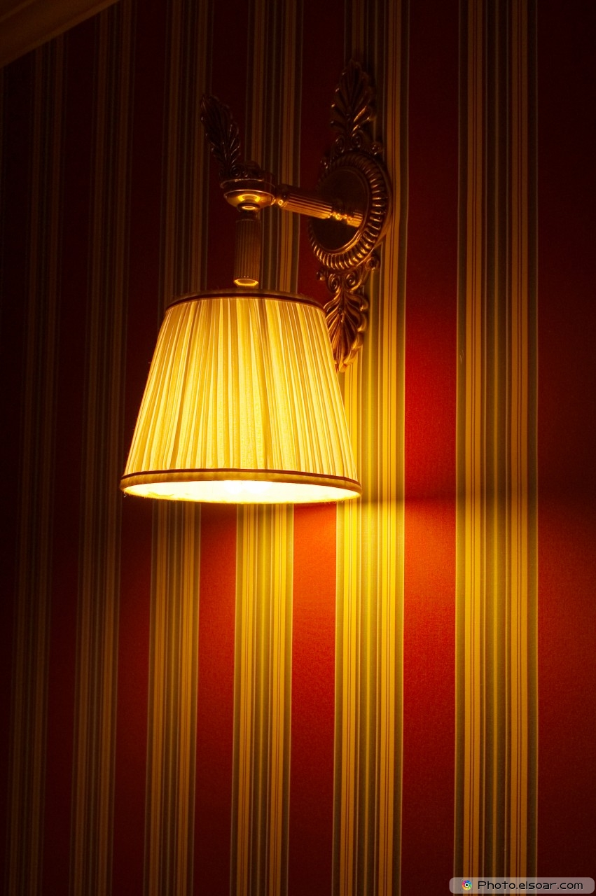 Yellow Lamp On The Wall