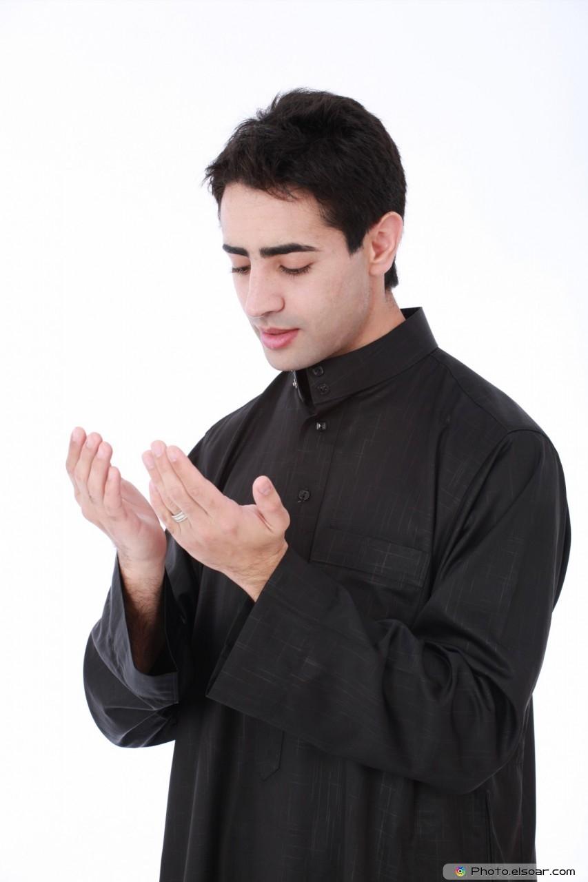 Young Muslim praying