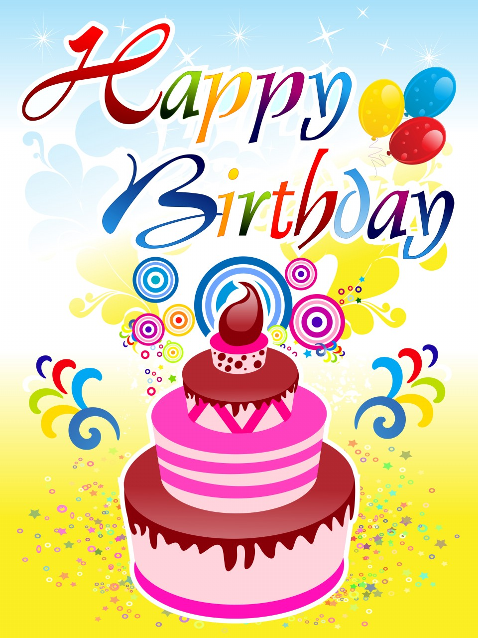 abstract happy birthday backgrounds • elsoar