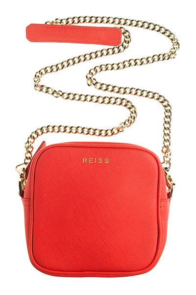bag red chain handle