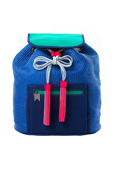blue green red backpack