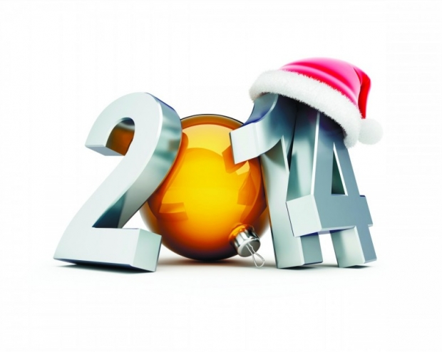 free Wallpaper 2014 Numbers Happy 2014 New Year Image