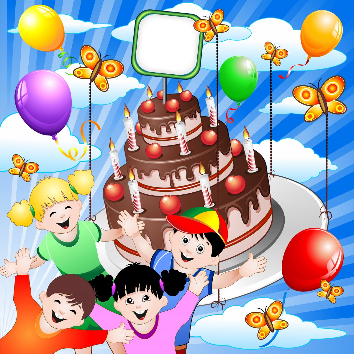 Happy Birthday Greetings for Children 10 Unique Free Cards Elsoar – Happy Birthday Kids Cards