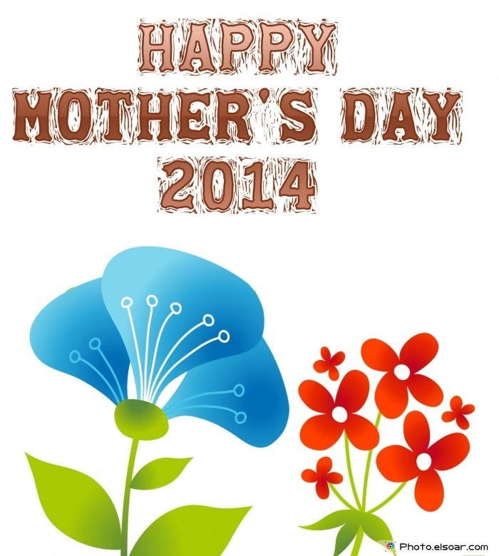Happy Mother's Day 2014 card with a blue flower