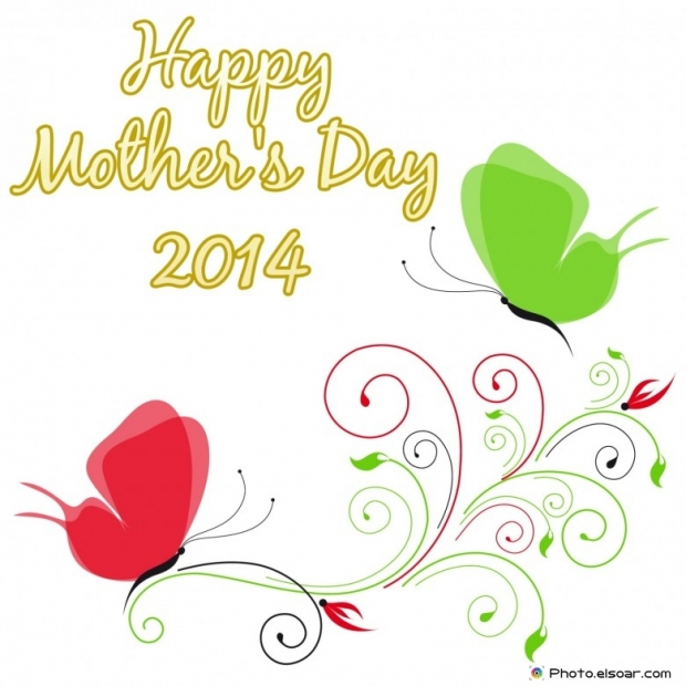 Happy Mother's Day 2014 stylish text in cute card