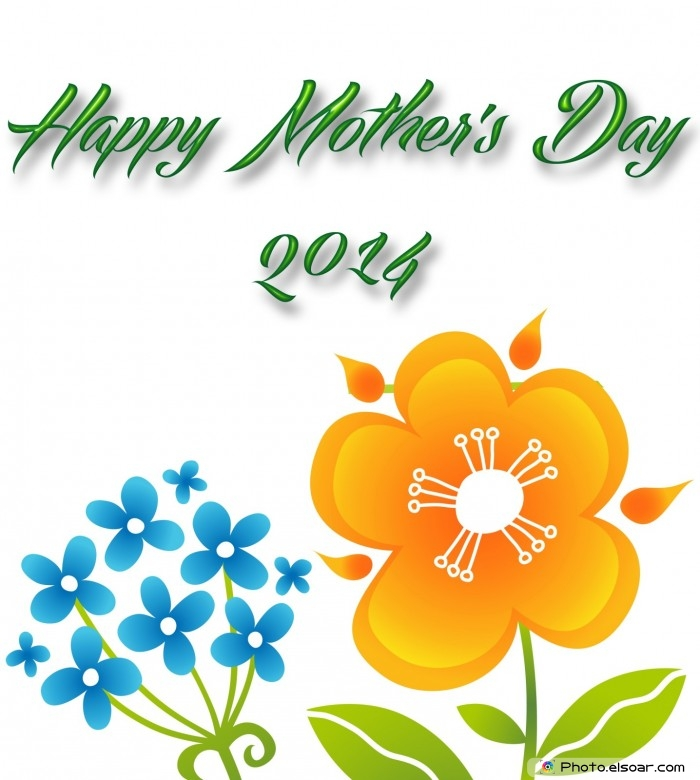 Happy Mother's Day 2014 with big flowers