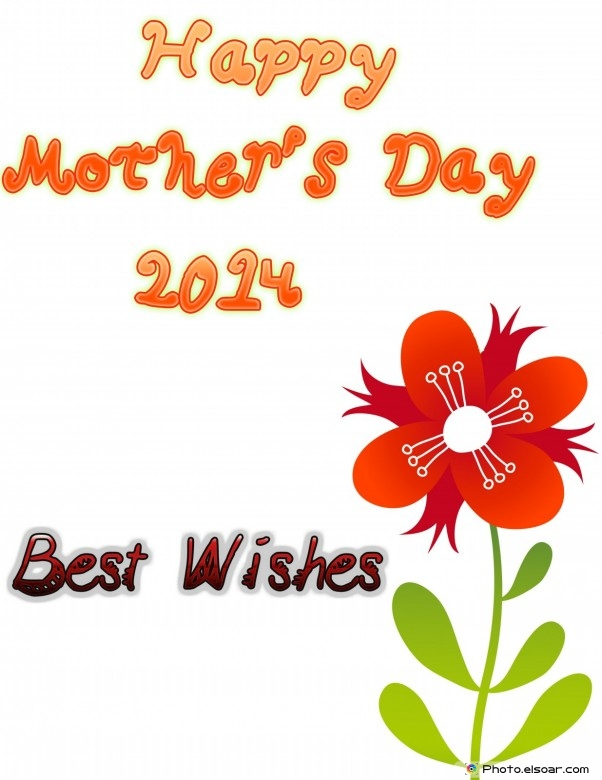 Happy Mother's Day 2014 best wishes. Big flower