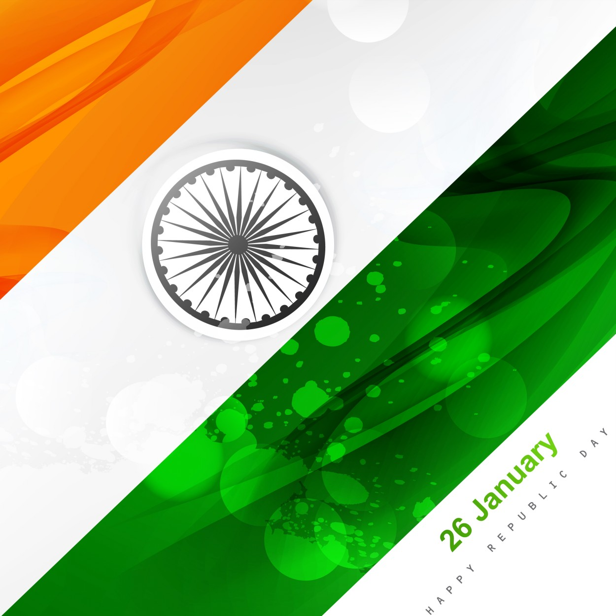 The Indian Flag With Republic Day