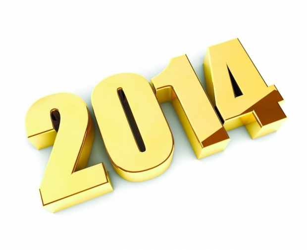 latst 2014 Numbers Happy 2014 New Year Image, Wallpaper