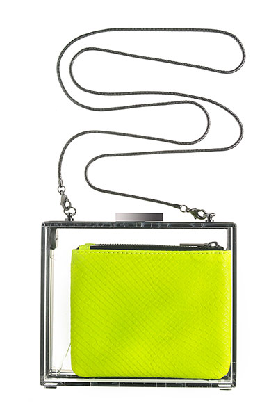 lime green box bag