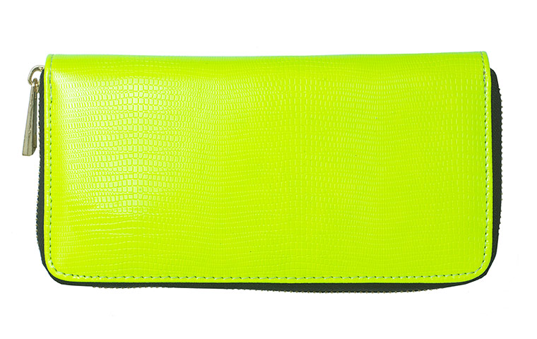 lime green wallet