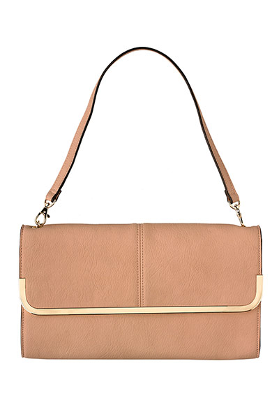 pale pink shoulder bag