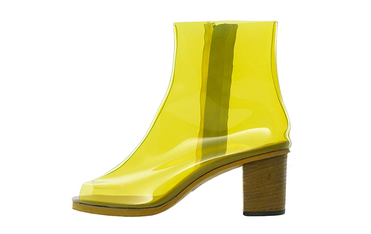yellow plastic boots